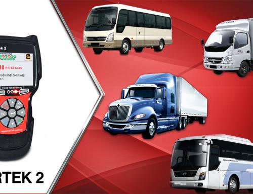 Máy chẩn đoán ô tô Cartek 2 đọc lỗi trên các dòng xe tải, xe buýt, xe đầu kéo