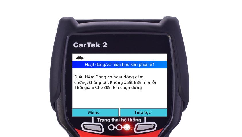 Giết kim phun bằng máy chẩn đoán Cartek 2