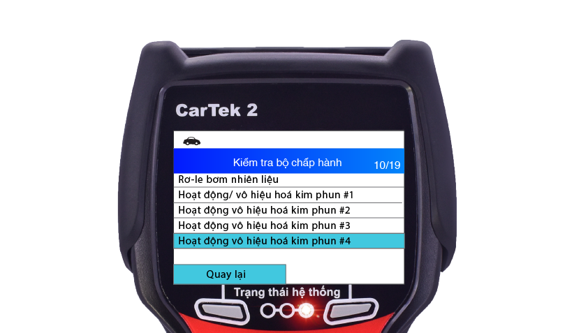 Các cơ cấu có thể kích hoạt trên máy chẩn đoán Cartek 2_2