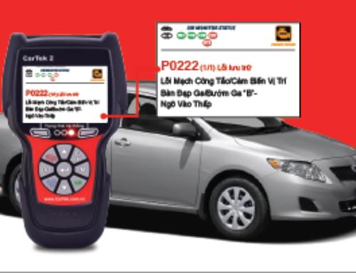 Hướng dẫn sửa chữa mã lỗi P0222 trên 2009 Toyota Corolla 1.8L (1ZZ-FE)