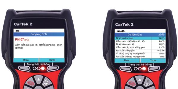 Đọc lỗi và xem dữ liệu động trên xe Dongfeng
