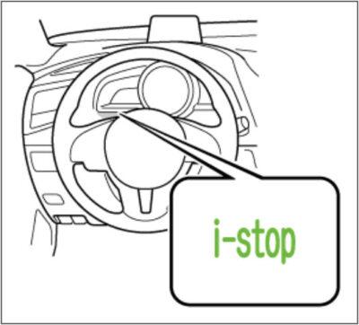 Vị trí đèn báo hệ thống I-Stop trên xe Mazda