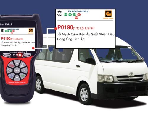 Hướng dẫn sửa chữa mã lỗi P0190 trên 2006 Toyota Hiace L4, 3.0L (1KD-FTV)